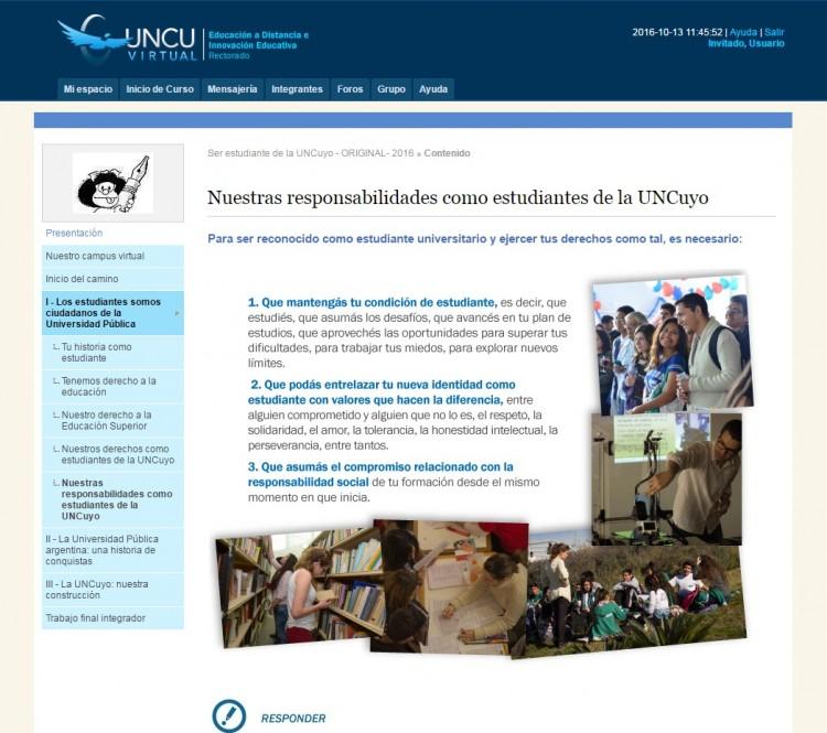 \Ser estudiante de la UNCuyo\ un curso de Ingreso virtual que construye ciudadanía universitaria